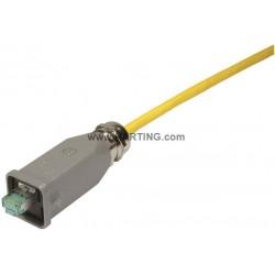 09451151520 Han3A RJ45 GL Cat6A plug 8p met