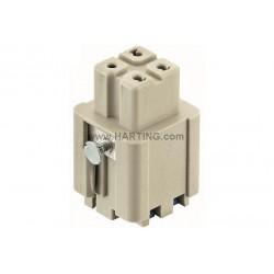 09200032734 Han 3A female insert Quick-Lock 1,5mm²